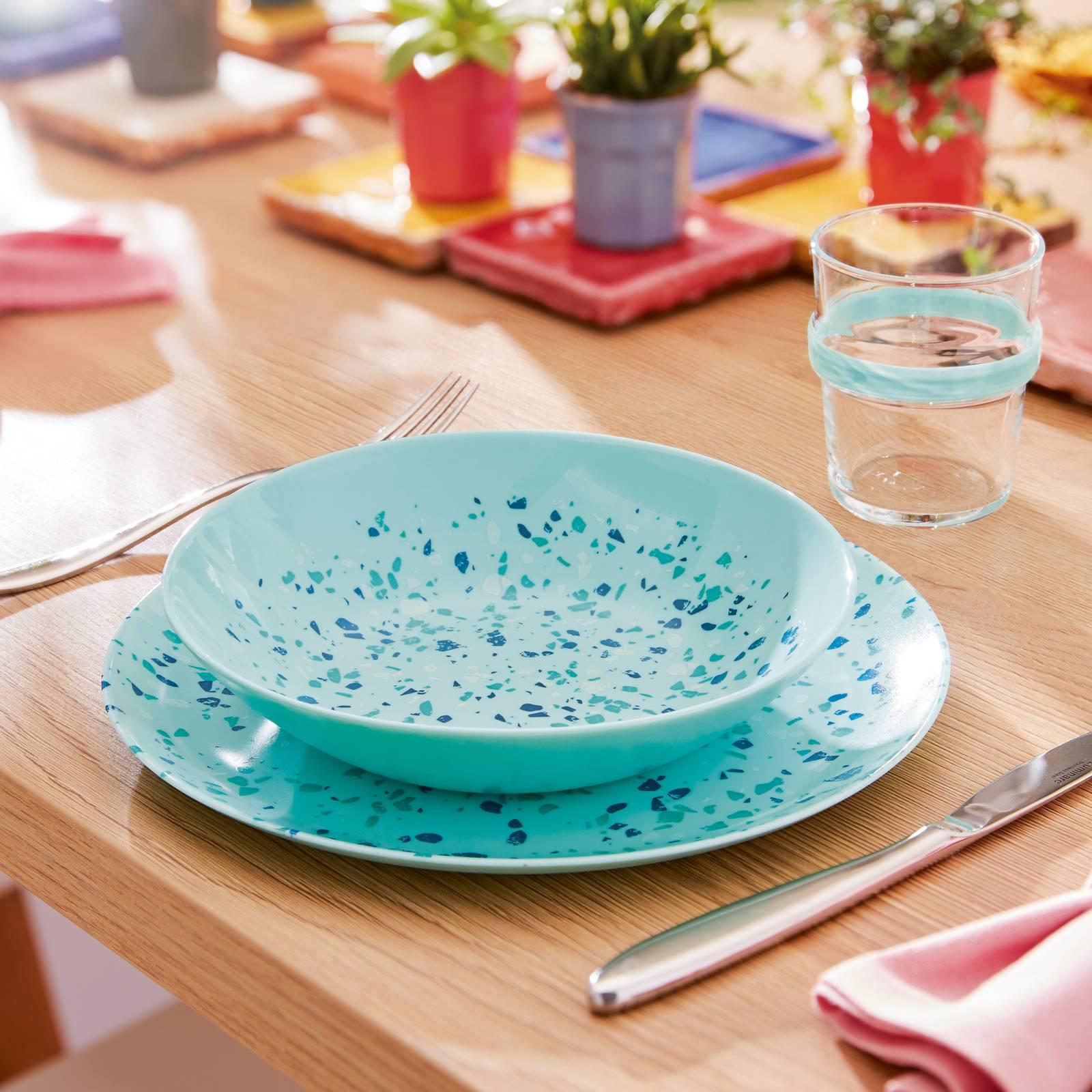 Talerz obiadowy Venizia Light Turquoise 25 cm LUMINARC