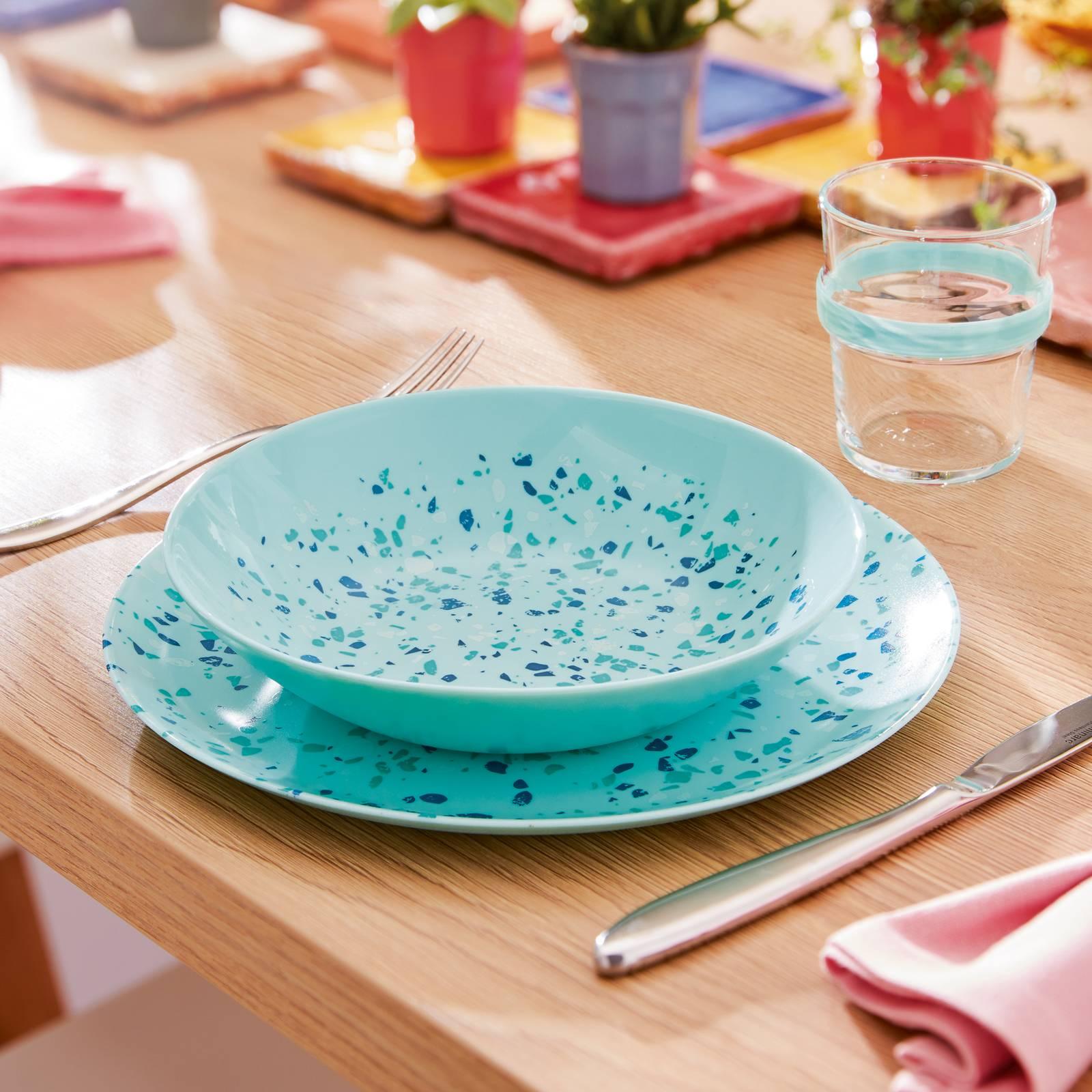 Talerz głęboki Venizia Light Turquoise 20 cm LUMINARC