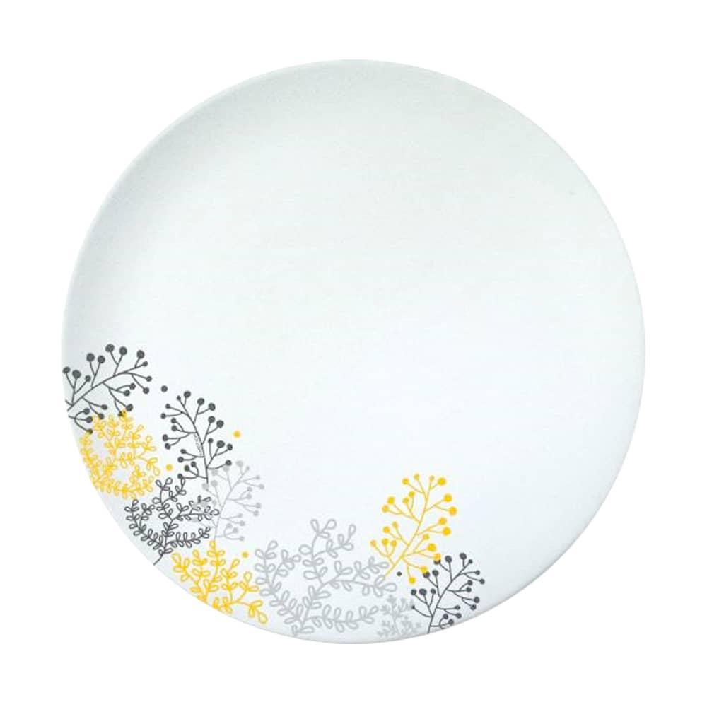 Talerz obiadowy Nordic 25 cm żółto-szary AMBITION