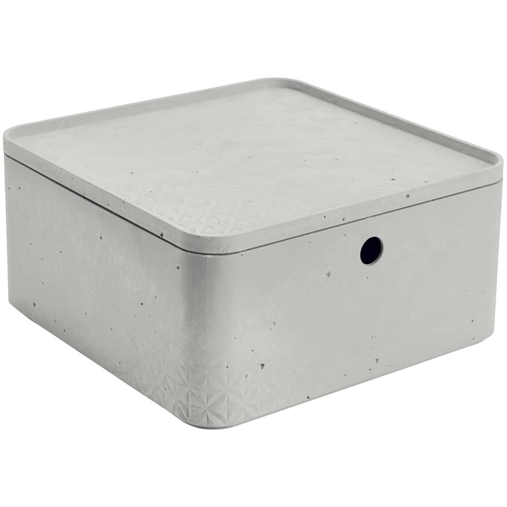 Förvåringslåda med lock 8,5 L Betong grå CURVER
