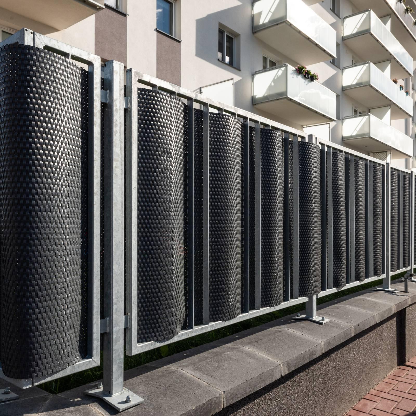 Osłona balkonowa Tress 0,9 x 5 m szara PATIO