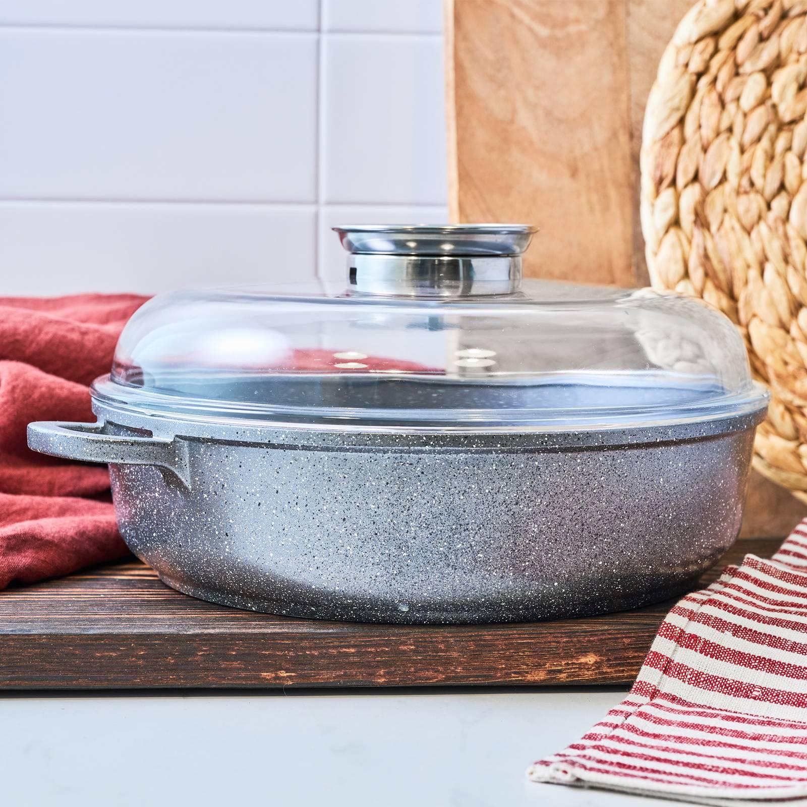 Deep frying pan with lid Aroma Knob 28 cm AMBITION