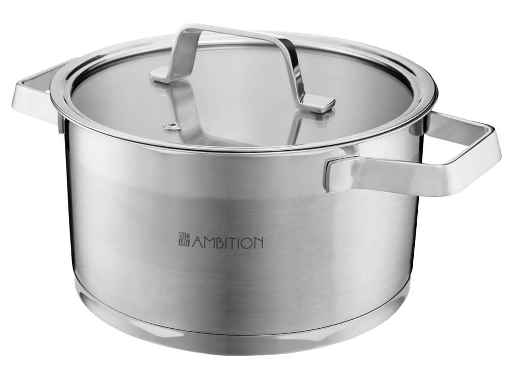 Pot with lid Expert 20 cm 3,5 l AMBITION