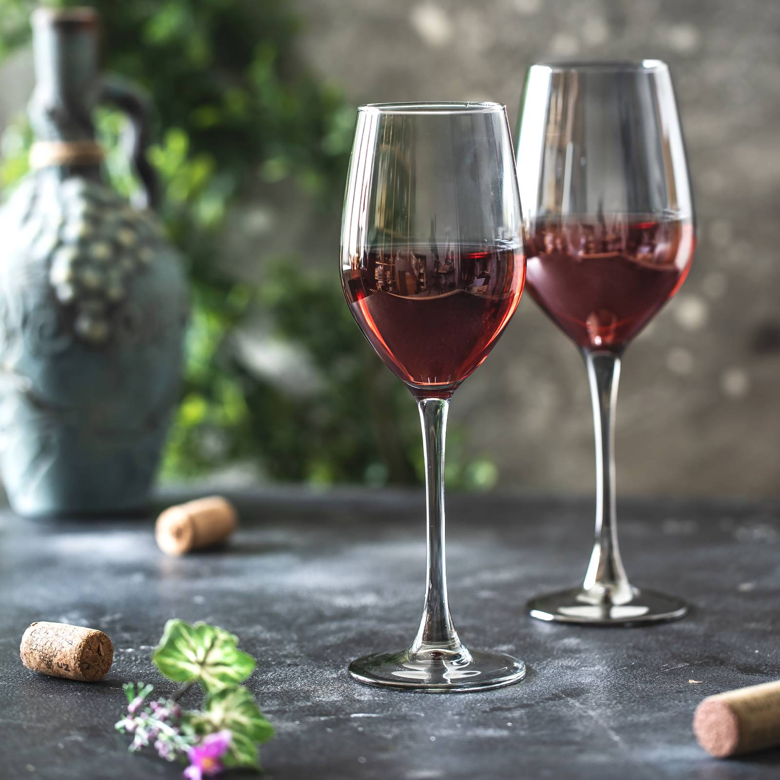 Komplet 6 kieliszków do wina Celeste Shiny Graphite 270 ml LUMINARC