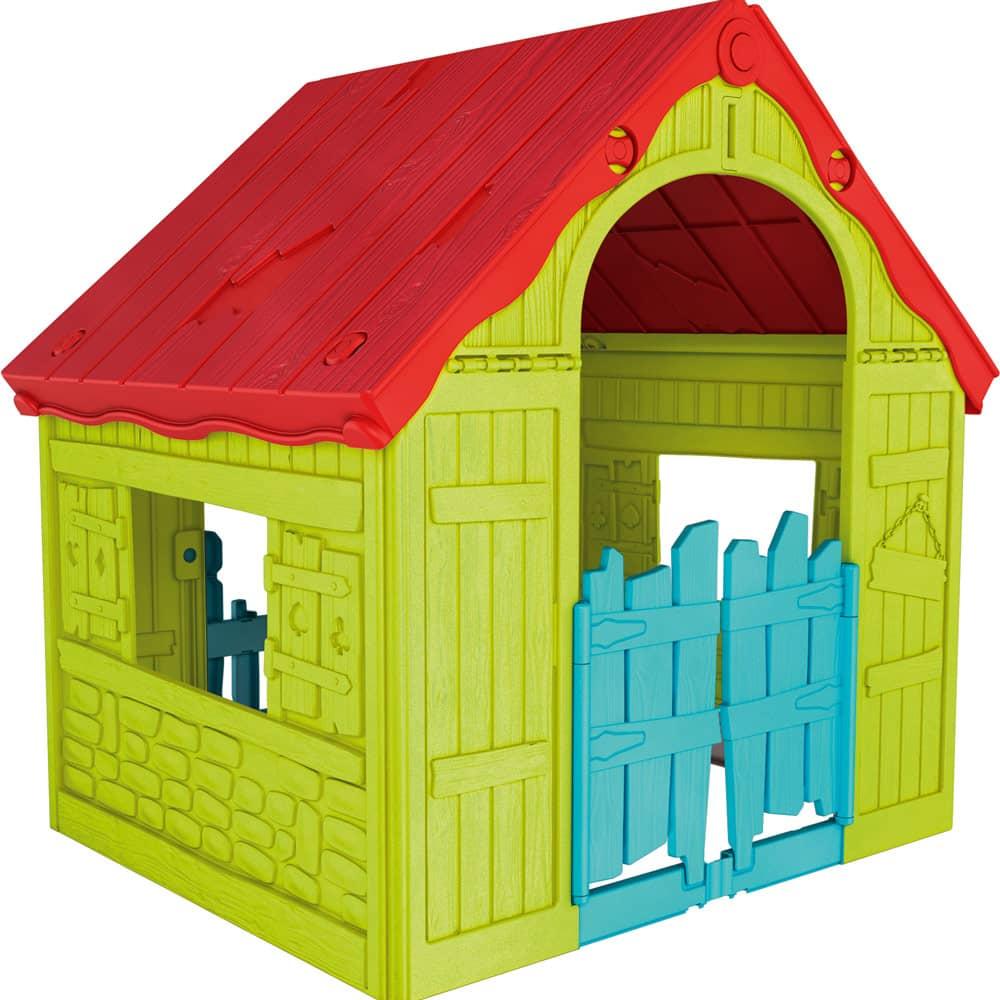Składany domek dla dzieci Foldable Play House czerwono - zielony 89 x 101 x 110 cm KETER