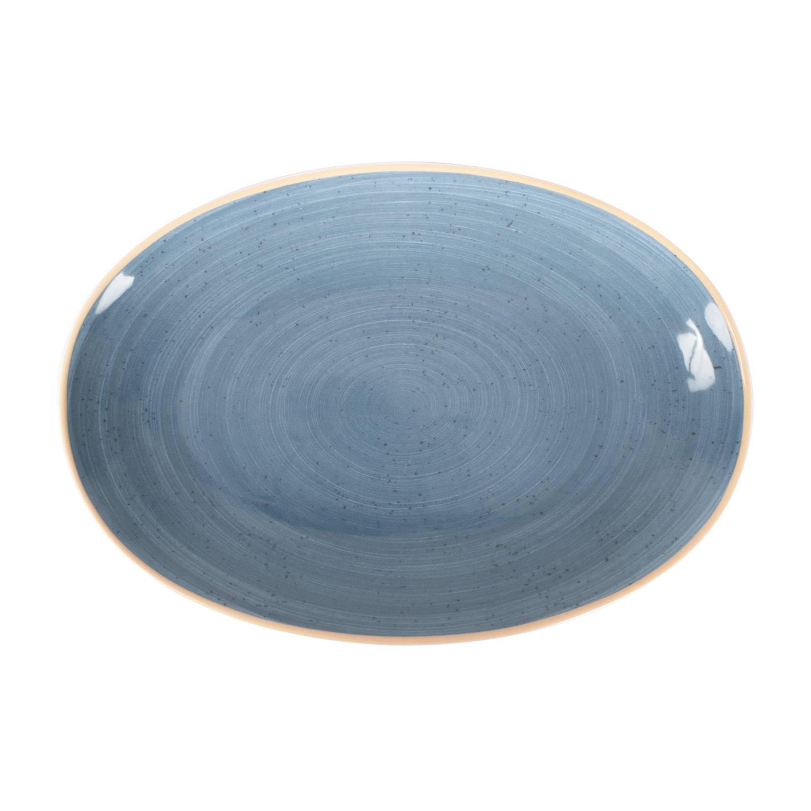Plat ovale Terra Blue 32 cm ARIANE