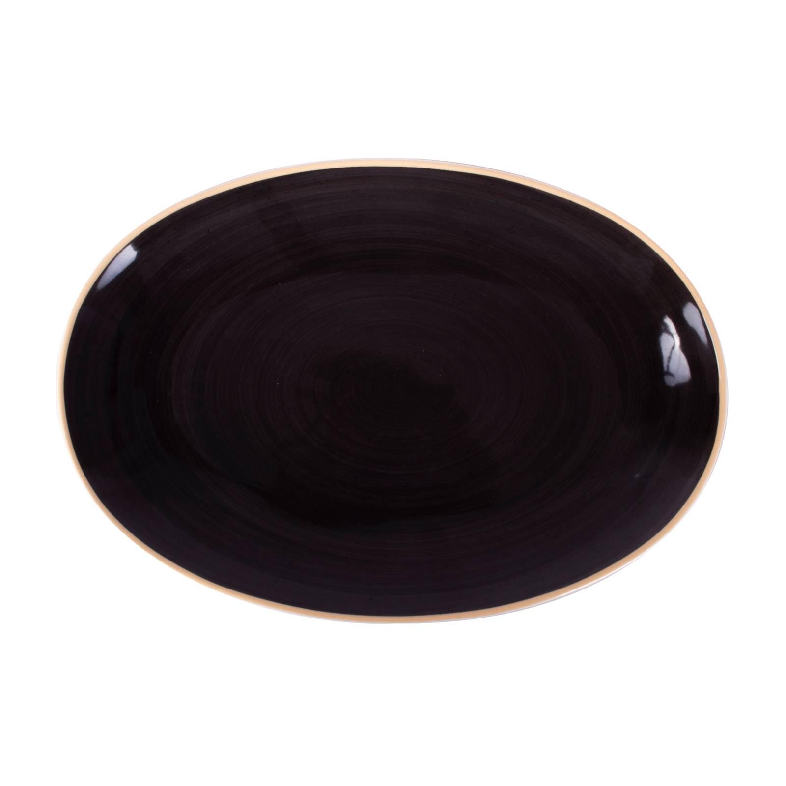 Plat ovale Terra Mokka 32 cm ARIANE