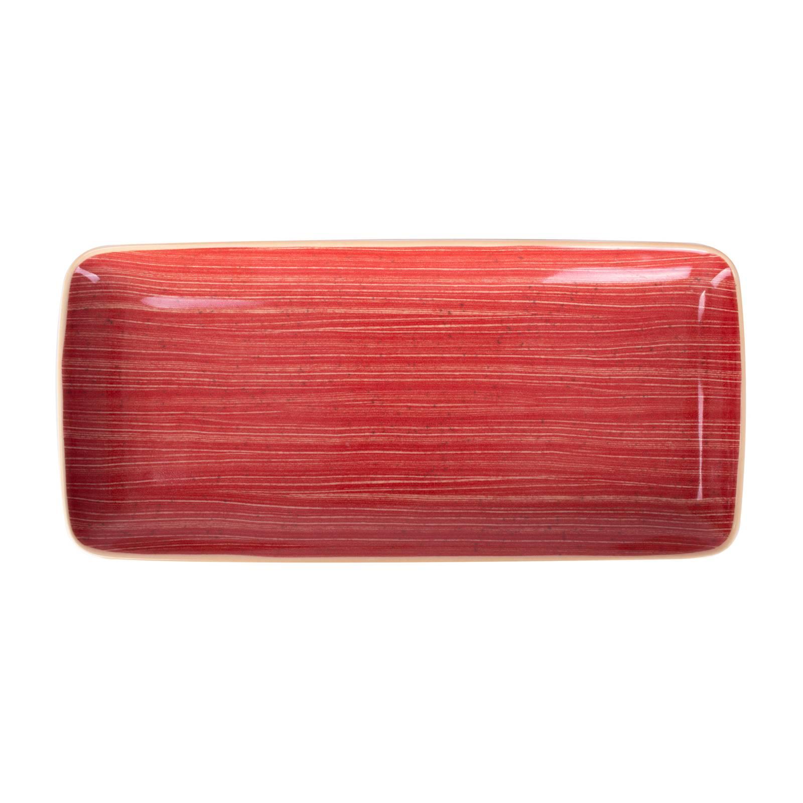 Plat rectangulaire Terra Red 28 x 14 cm ARIANE