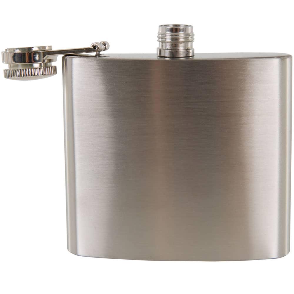 Flachmann aus Metall Cross 150 ml