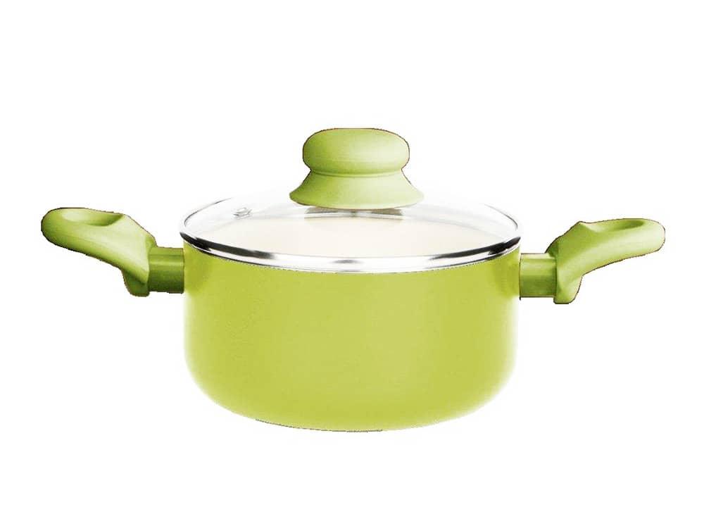 Garnek z powłoką ceramiczną Fusion Fresh 16 cm 1,25 l zielony AMBITION