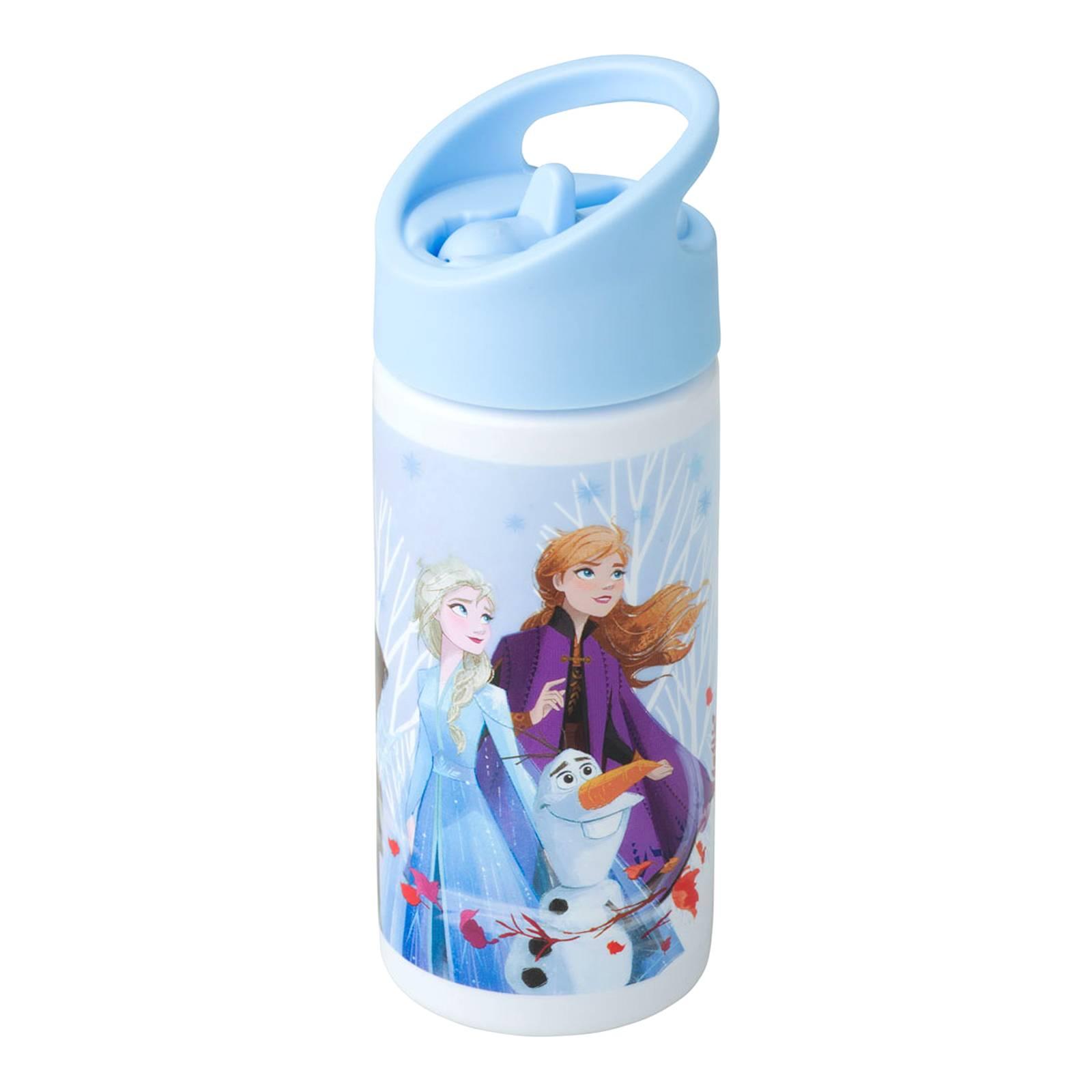 Water bottle wit straw Frozen II Blue 400 ml DISNEY