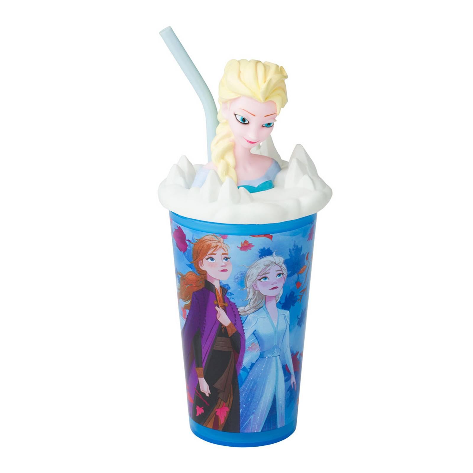 Water bottle with straw Frozen II Fantastic Head 440 ml DISNEY