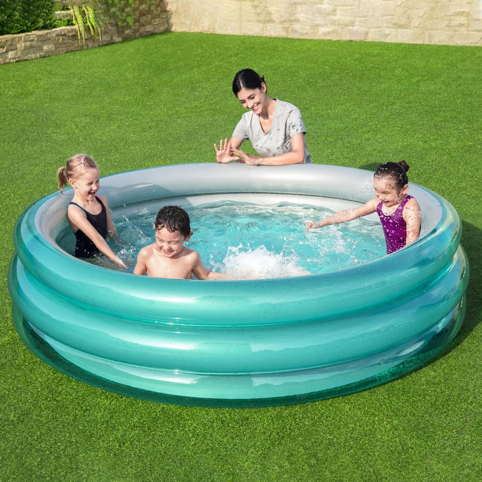 Nafukovací detský bazén Big Metalic 201 x 53 cm BESTWAY