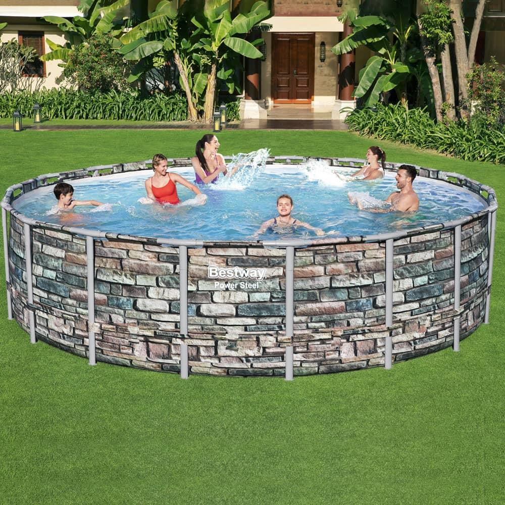 Nadzemný bazén Power Steel 549 x 132  cm, 26000 l BESTWAY