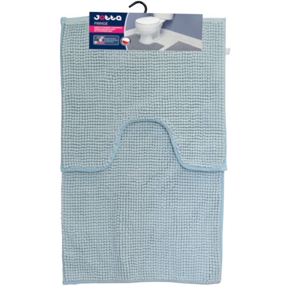 Komplet 2 dywaników łazienkowych Fringe 50x45 cm, 50x80 cm miętowy Jotta