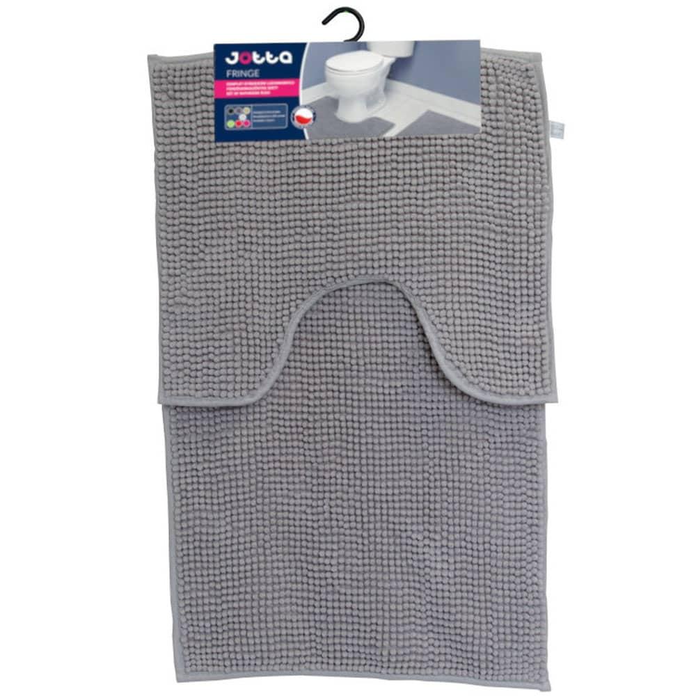 Komplet 2 dywaników łazienkowych Fringe 50x45 cm, 50x80 cm jasny beżowy Jotta