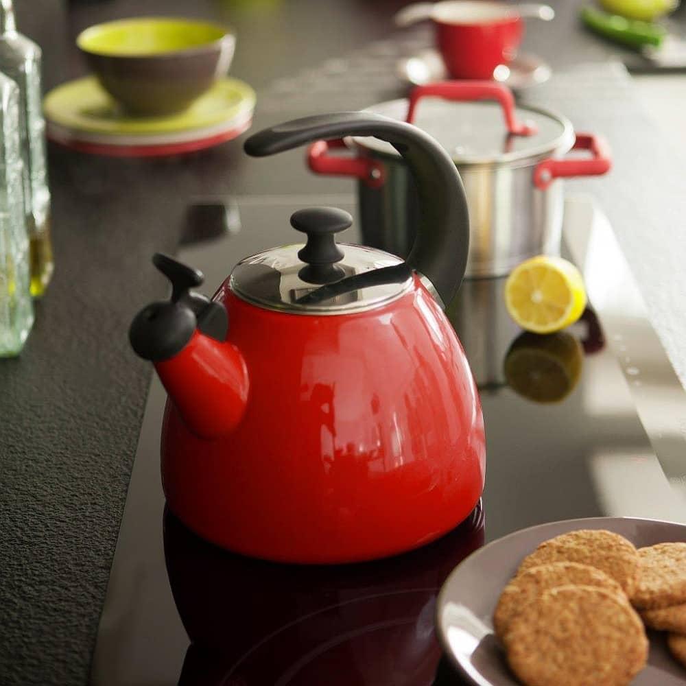 Smaltovaný čajník Fusion Fresh Red 2,5 l AMBITION