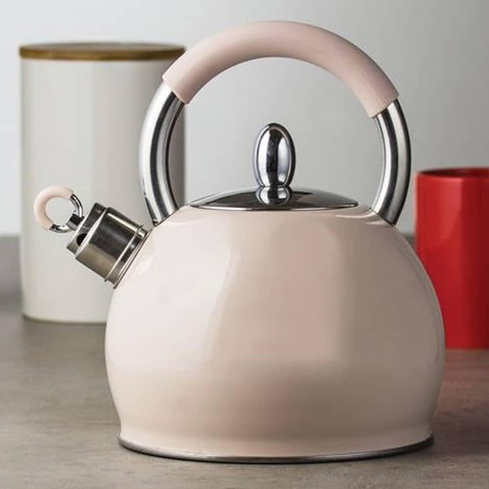Nerezový čajník Creamy Cream Pink 2,9 l AMBITION