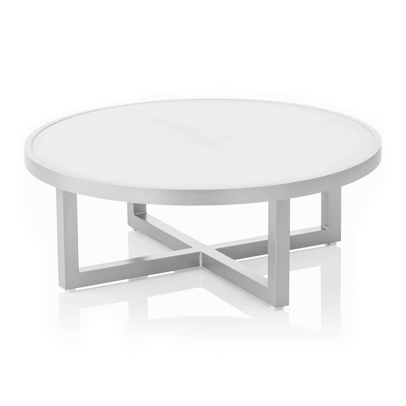 Stół z blatem szklanym Ego 92 x 92 x 33 cm srebrny KETTLER