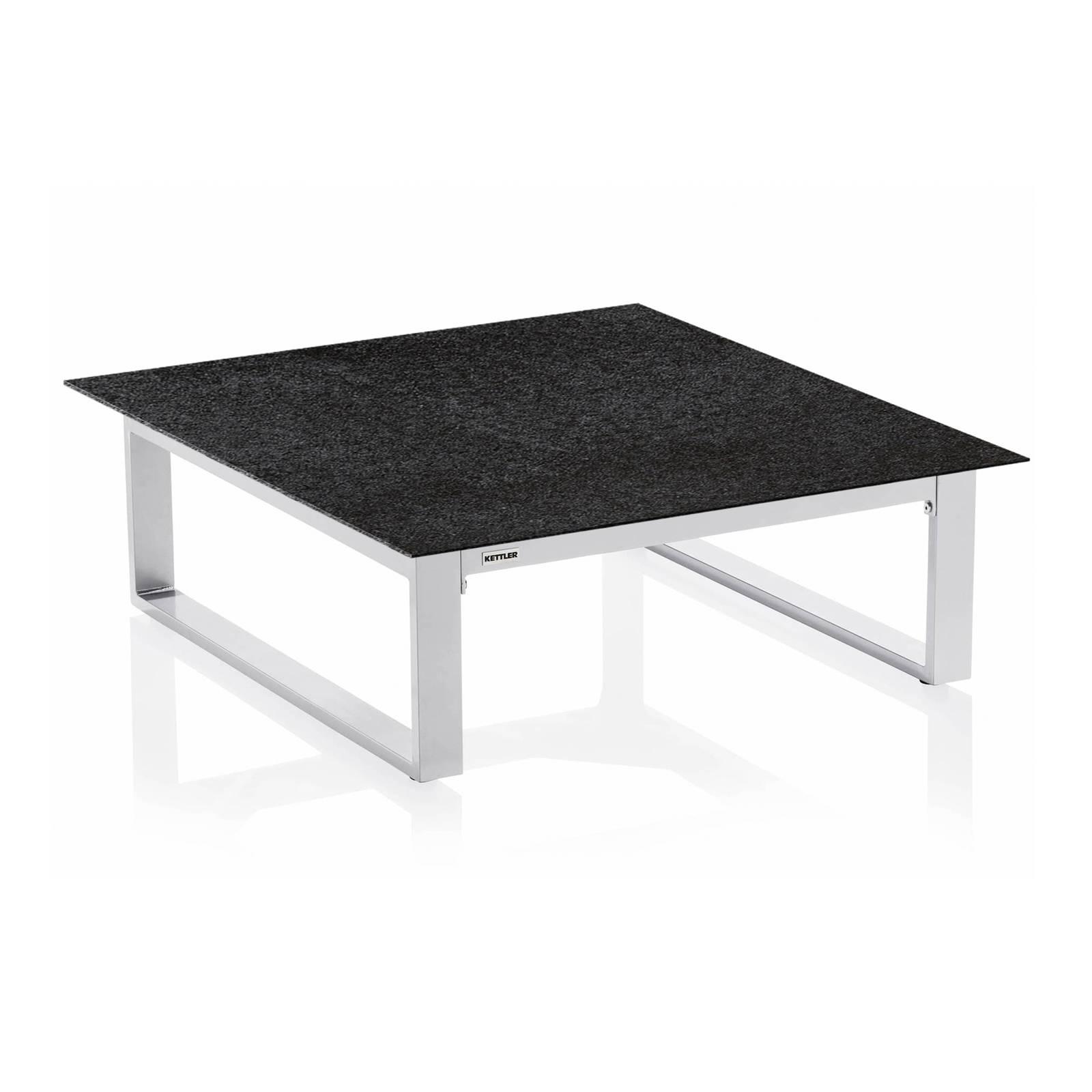 Stół Ego 95 x 95 x 33 cm srebrno-antracytowy KETTLER