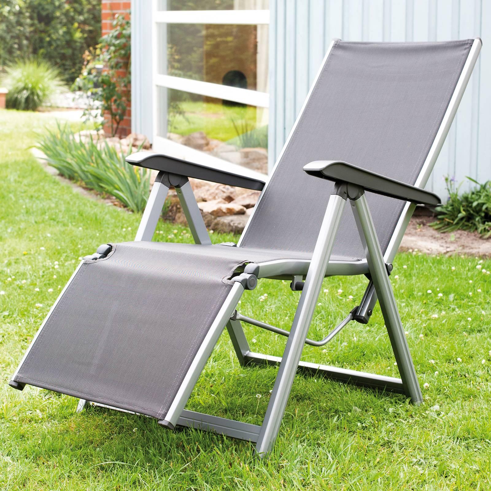 Fotel z podnóżkiem Basic Plus srebrny KETTLER