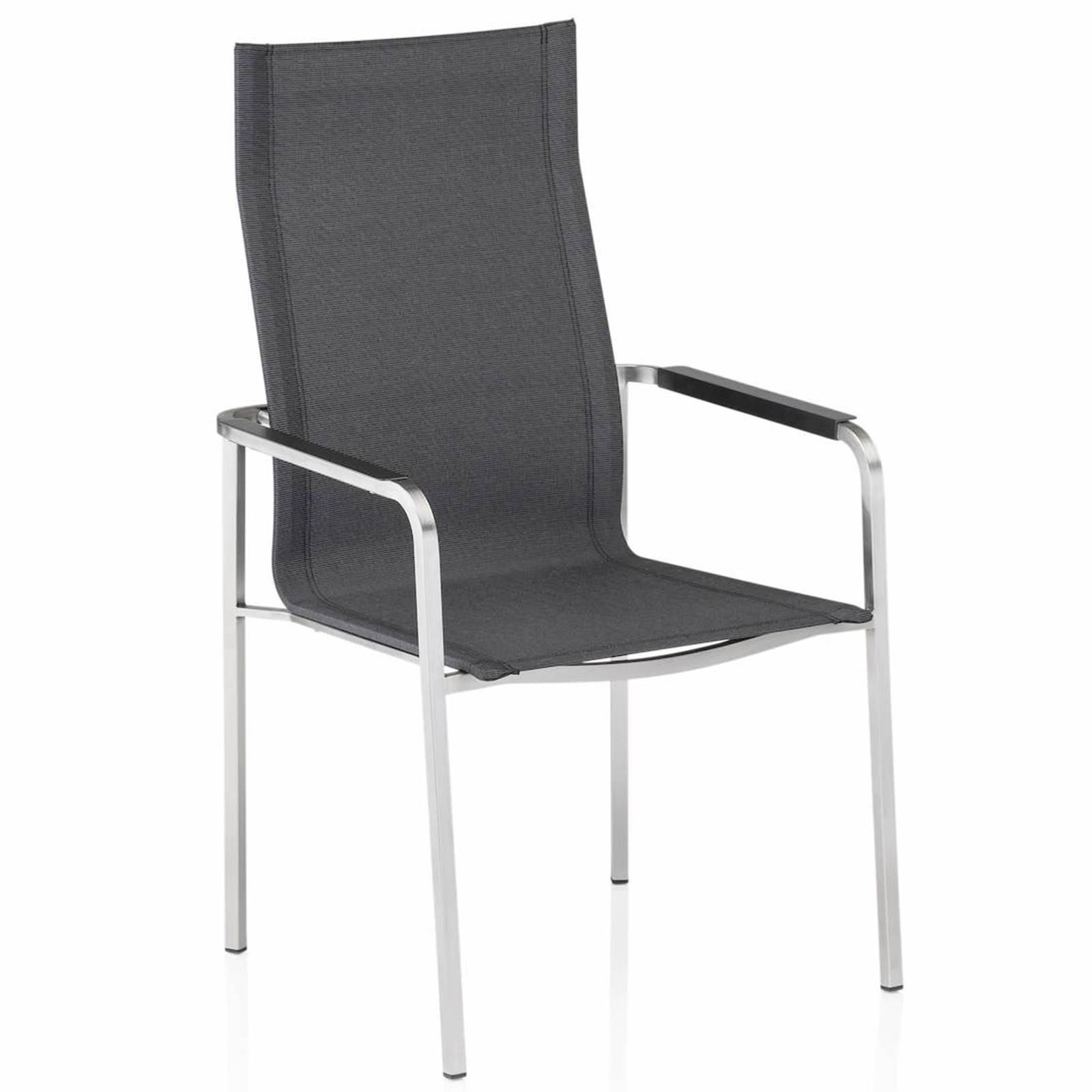 Krzesło ogrodowe z wysokim oparciem Feel antracytowe / stal KETTLER