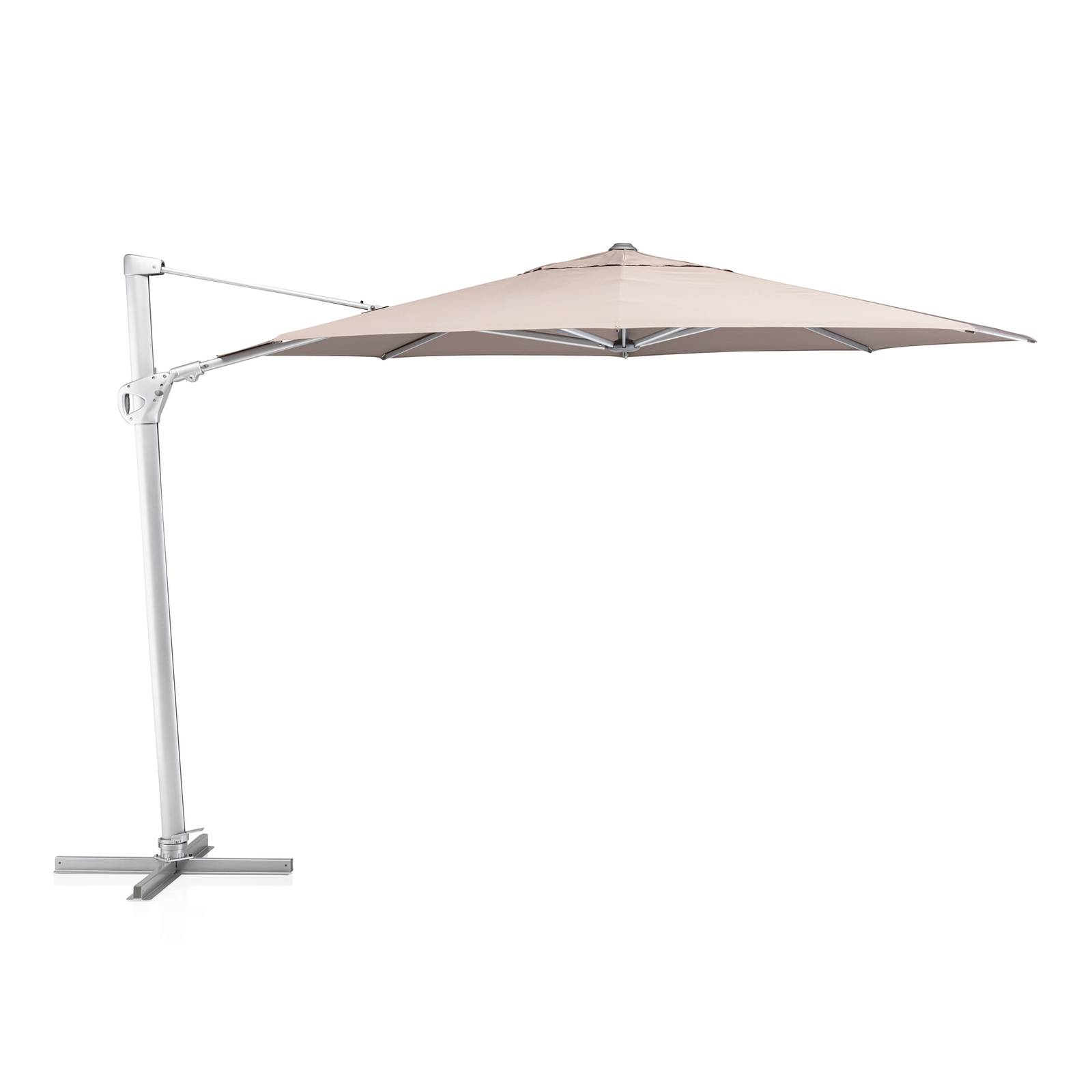 Parasol ogrodowy Easy Swing 3,5 m srebrny / taupe KETTLER