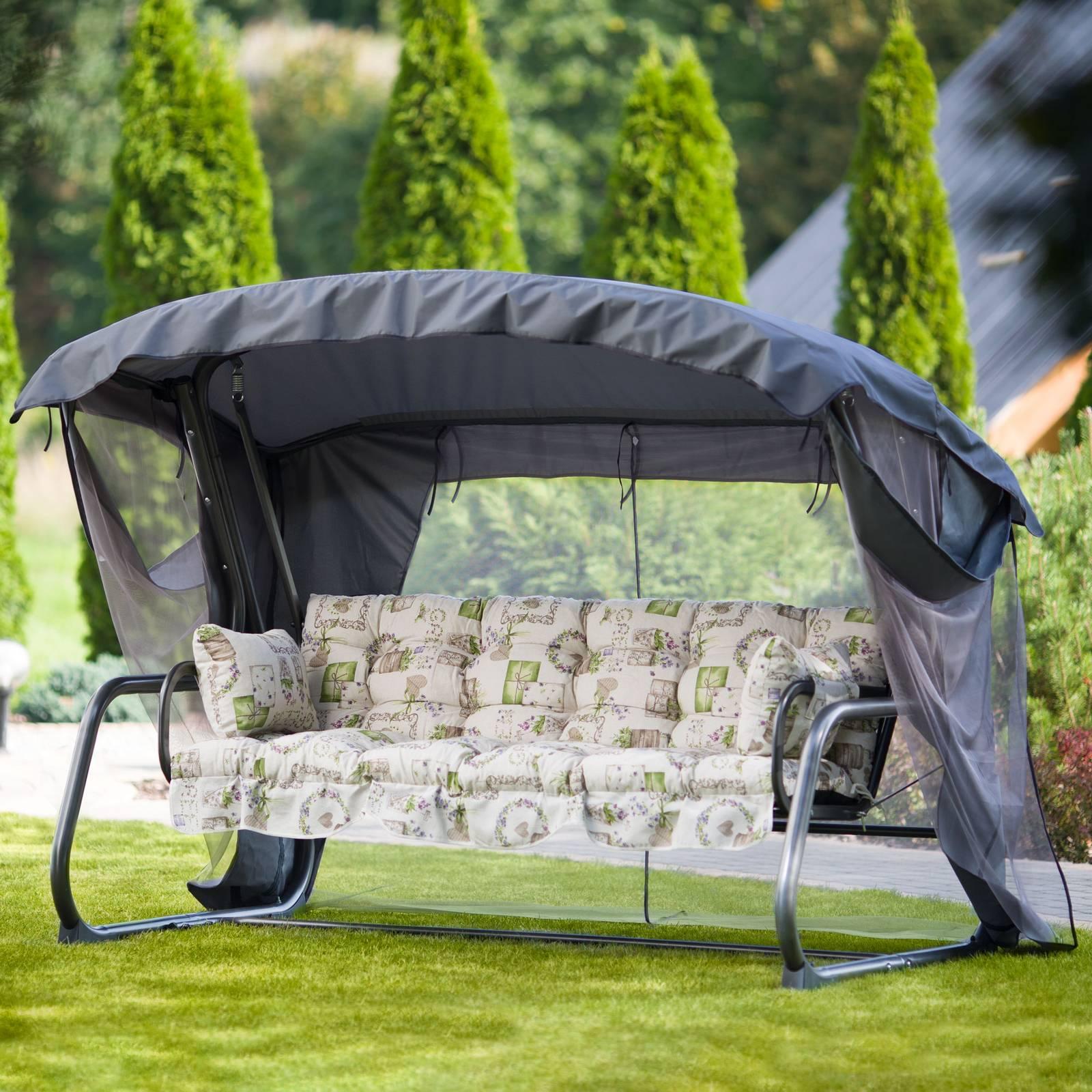 Huśtawka ogrodowa Ravenna Lux z moskitierą A085-02HB PATIO