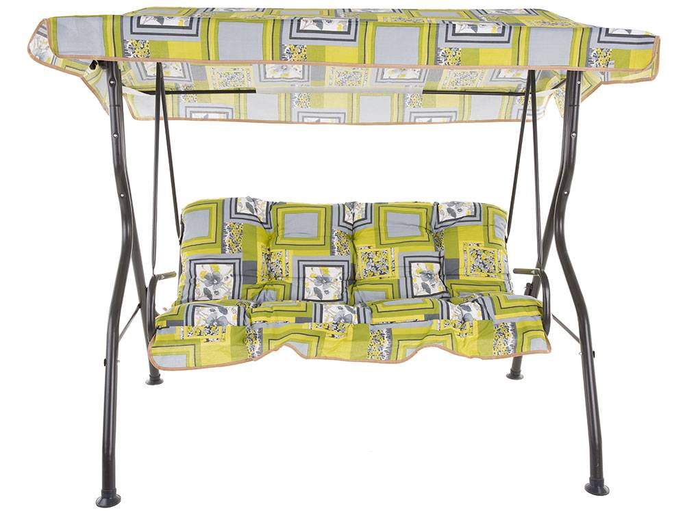 Swing Luna With Set of 2 Cushions and Canopy A050-03PB PATIO