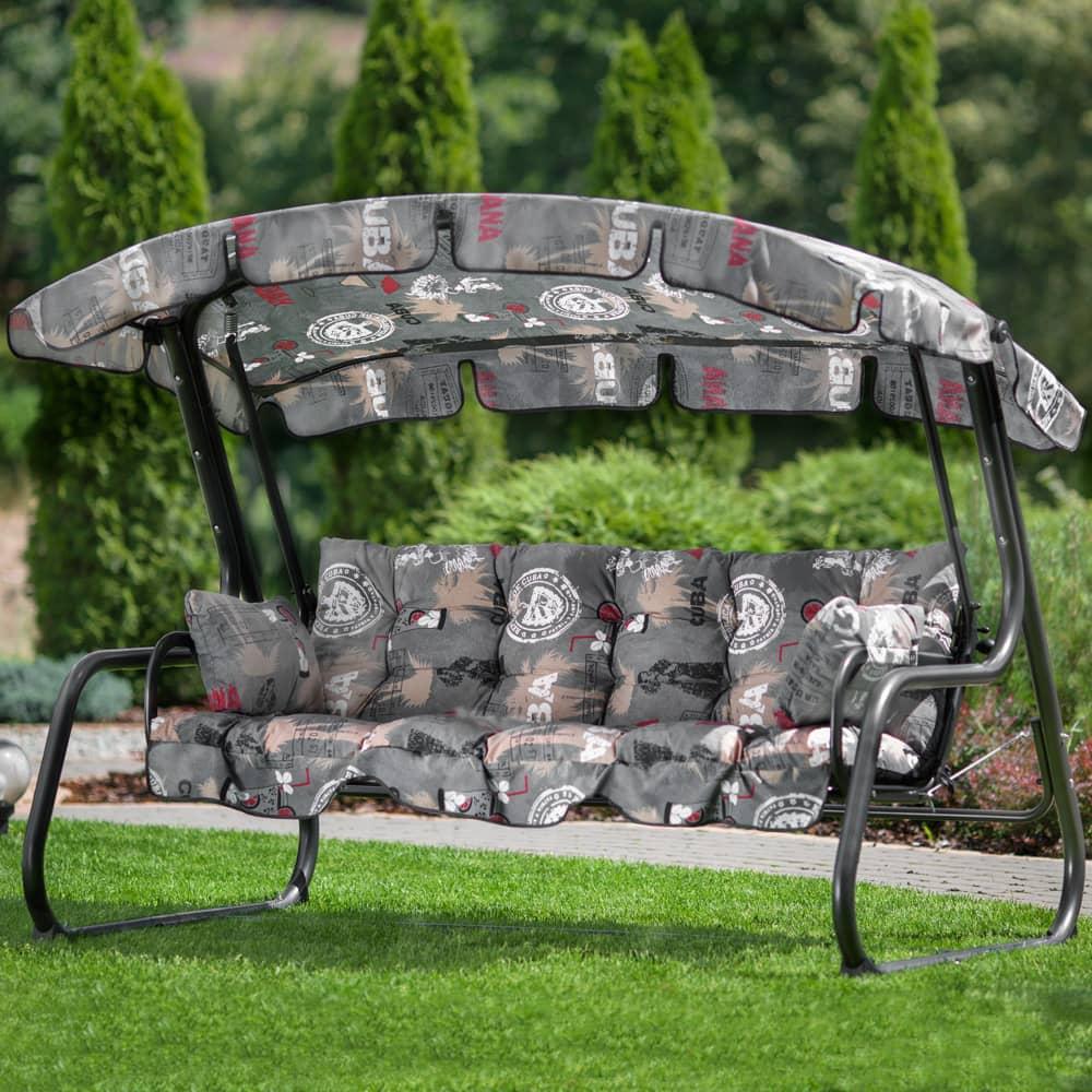 Coussin et toit pour balancelle Ravenna F001-06PB PATIO
