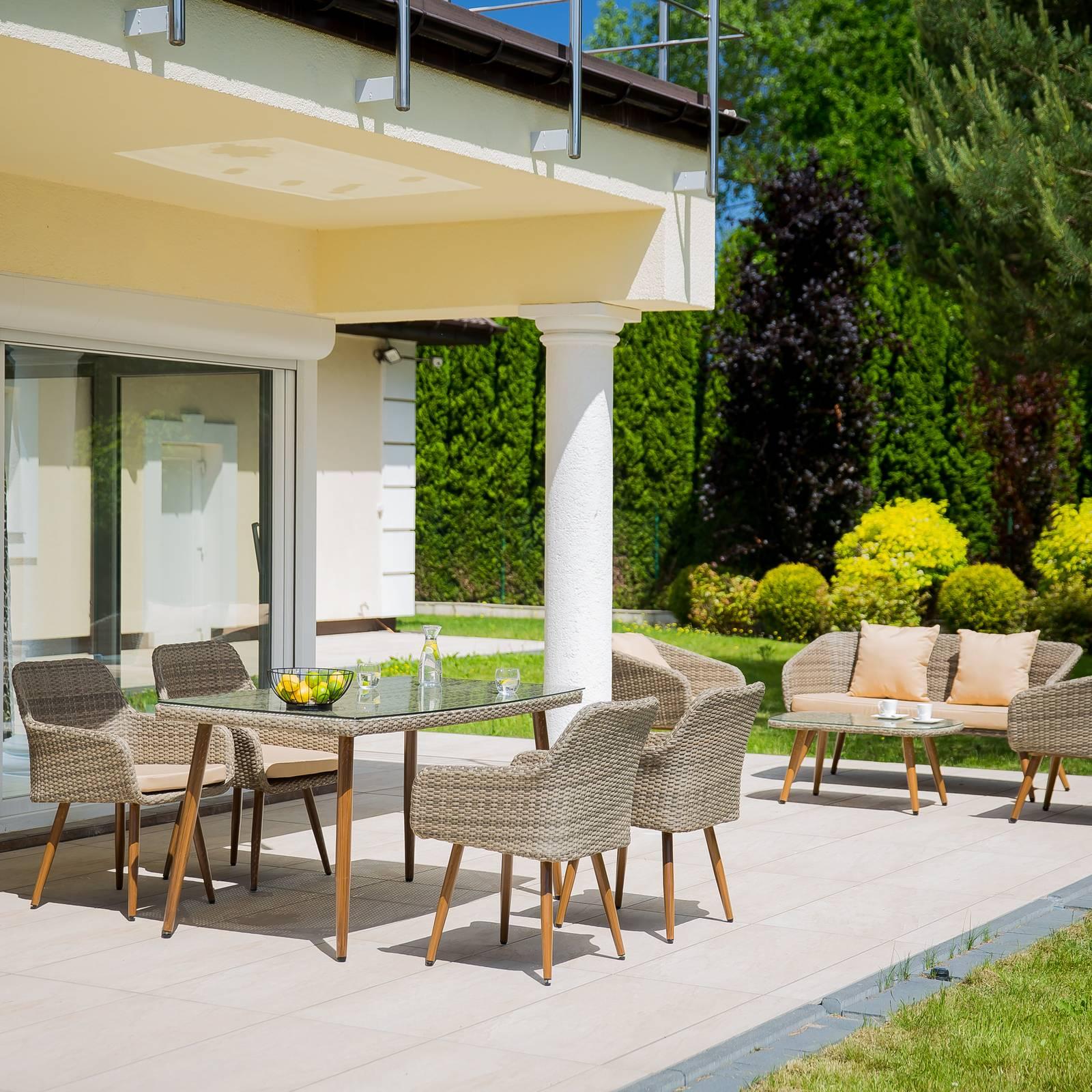 Súprava záhradného nábytku z technorattanu Marlene Ash Chair PATIO