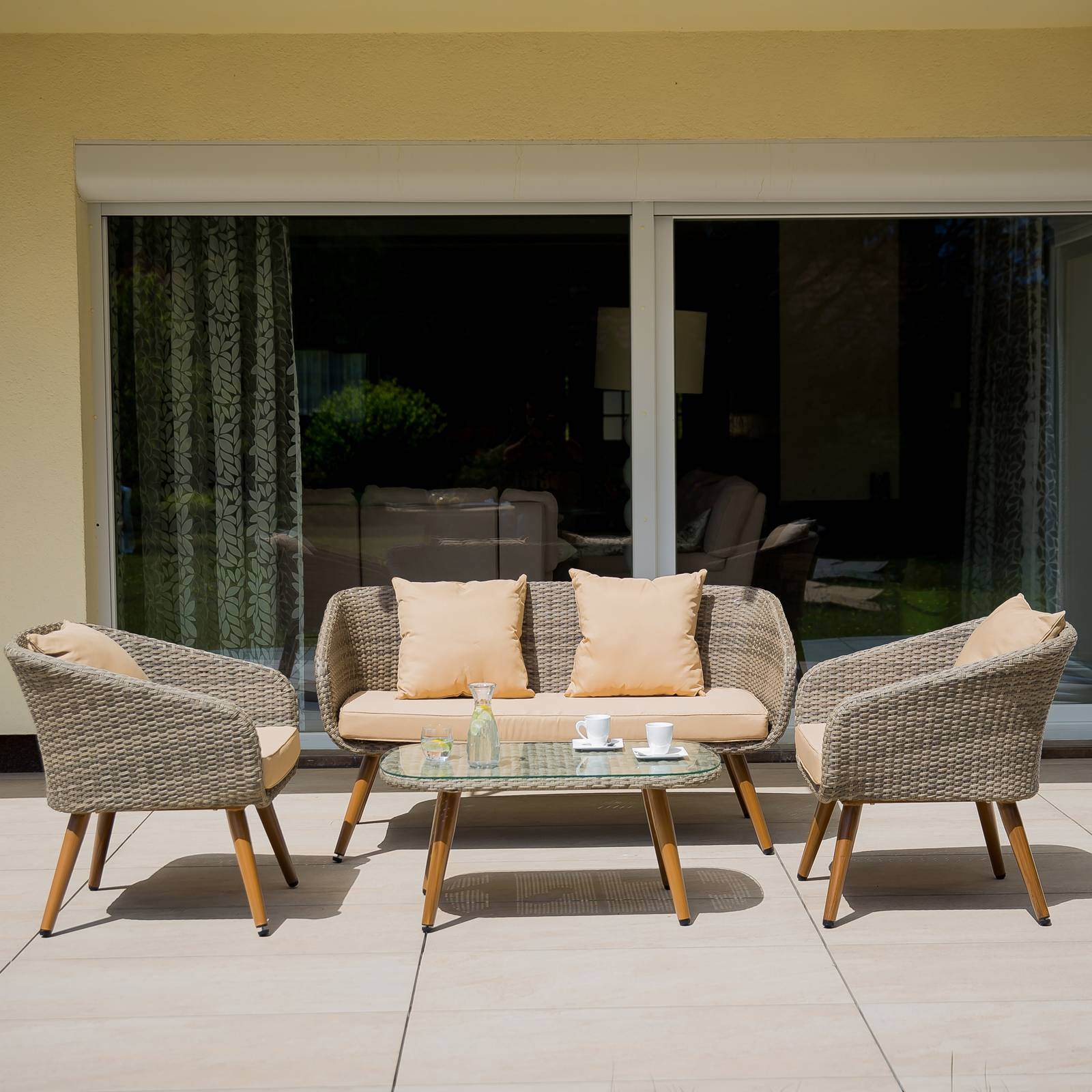 Súprava záhradného nábytku z technorattanu Marlene Ash Sofa PATIO