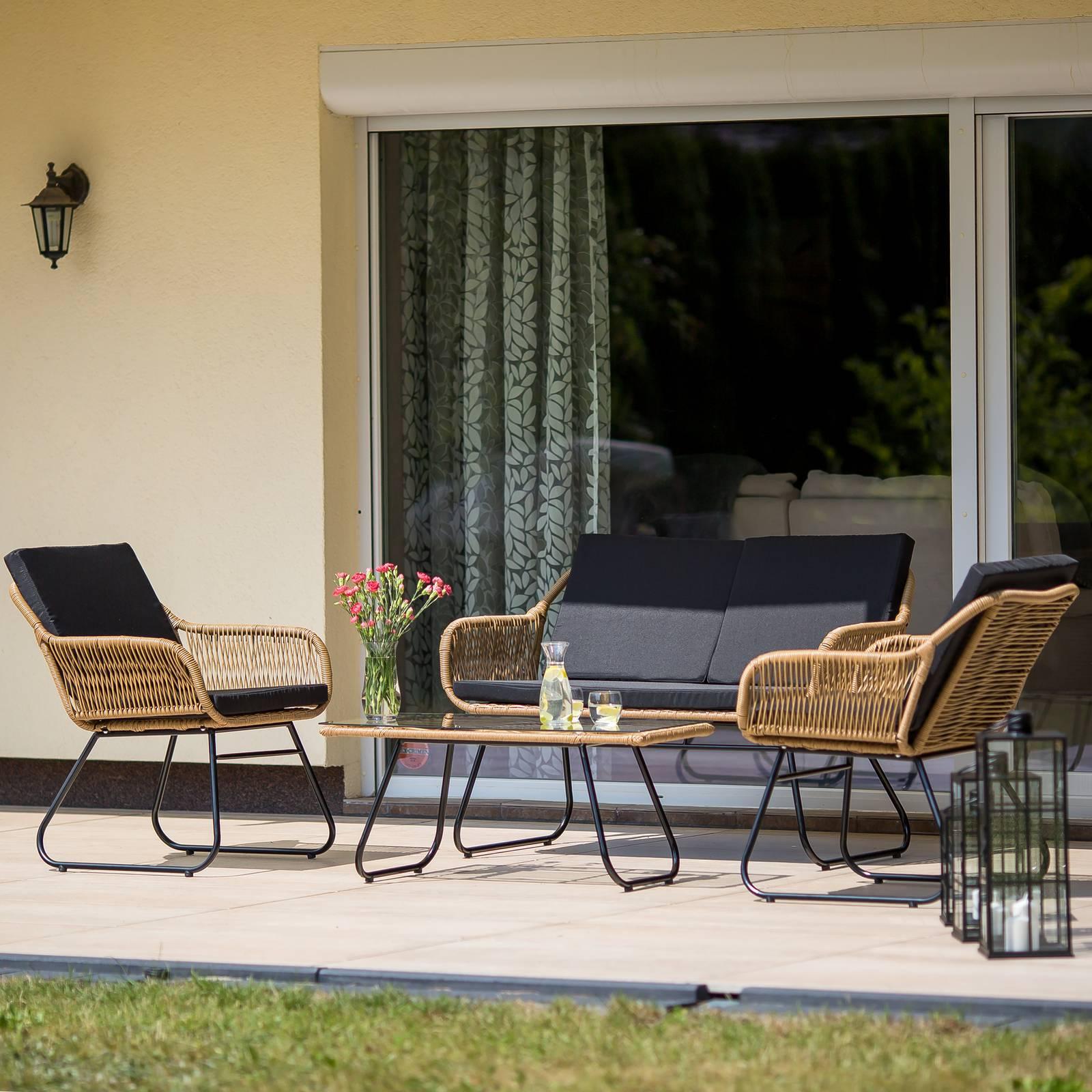 Súprava záhradného nábytku z technorattanu Hannah Beige PATIO