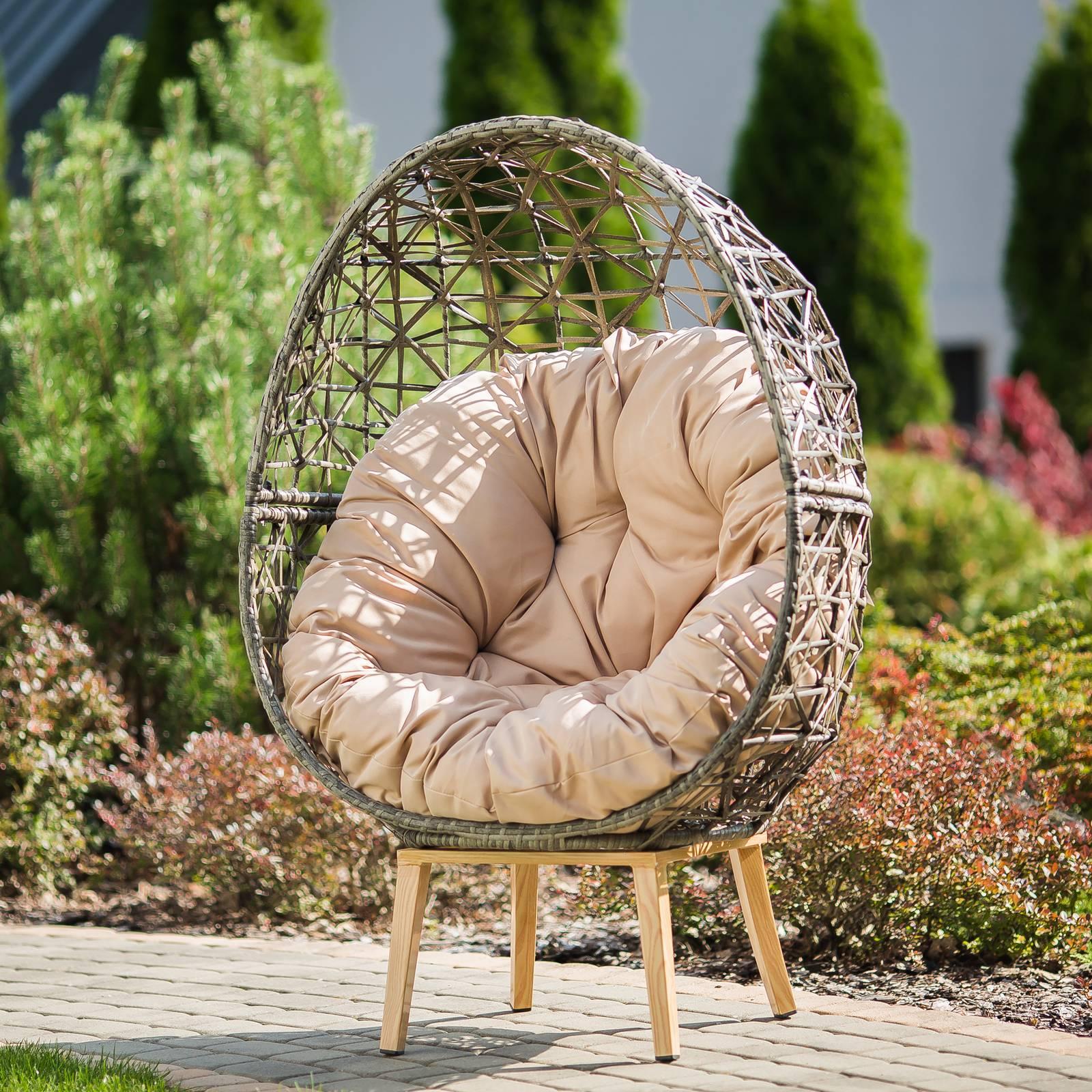 Fotel okrągły Horace popiel PATIO