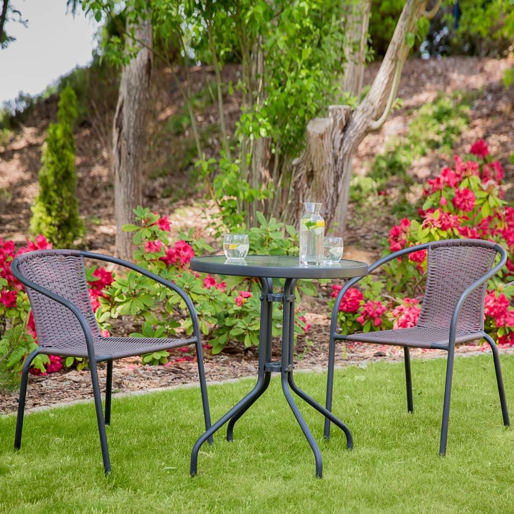 Zestaw mebli ogrodowych / balkonowych Bistro brązowy PATIO