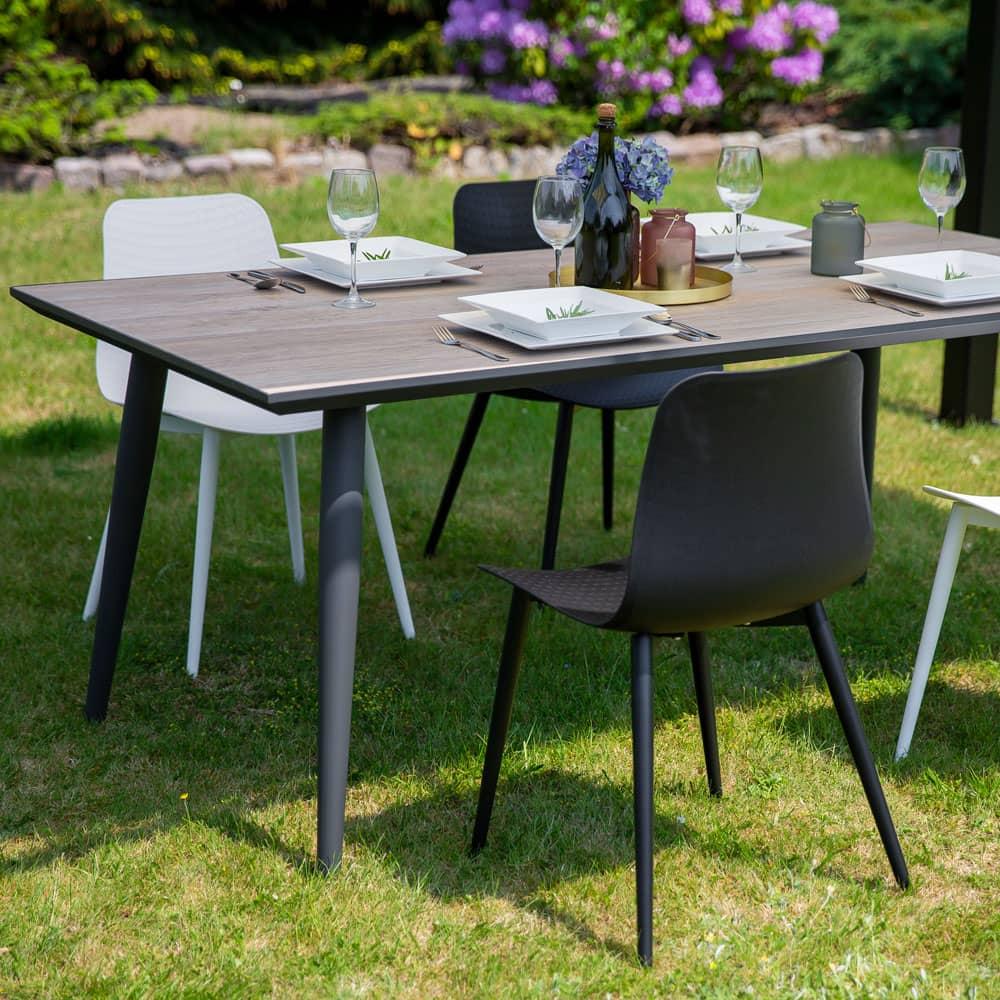Keramischer Tisch Hugo 180 x 90 x 72 cm braun PATIO