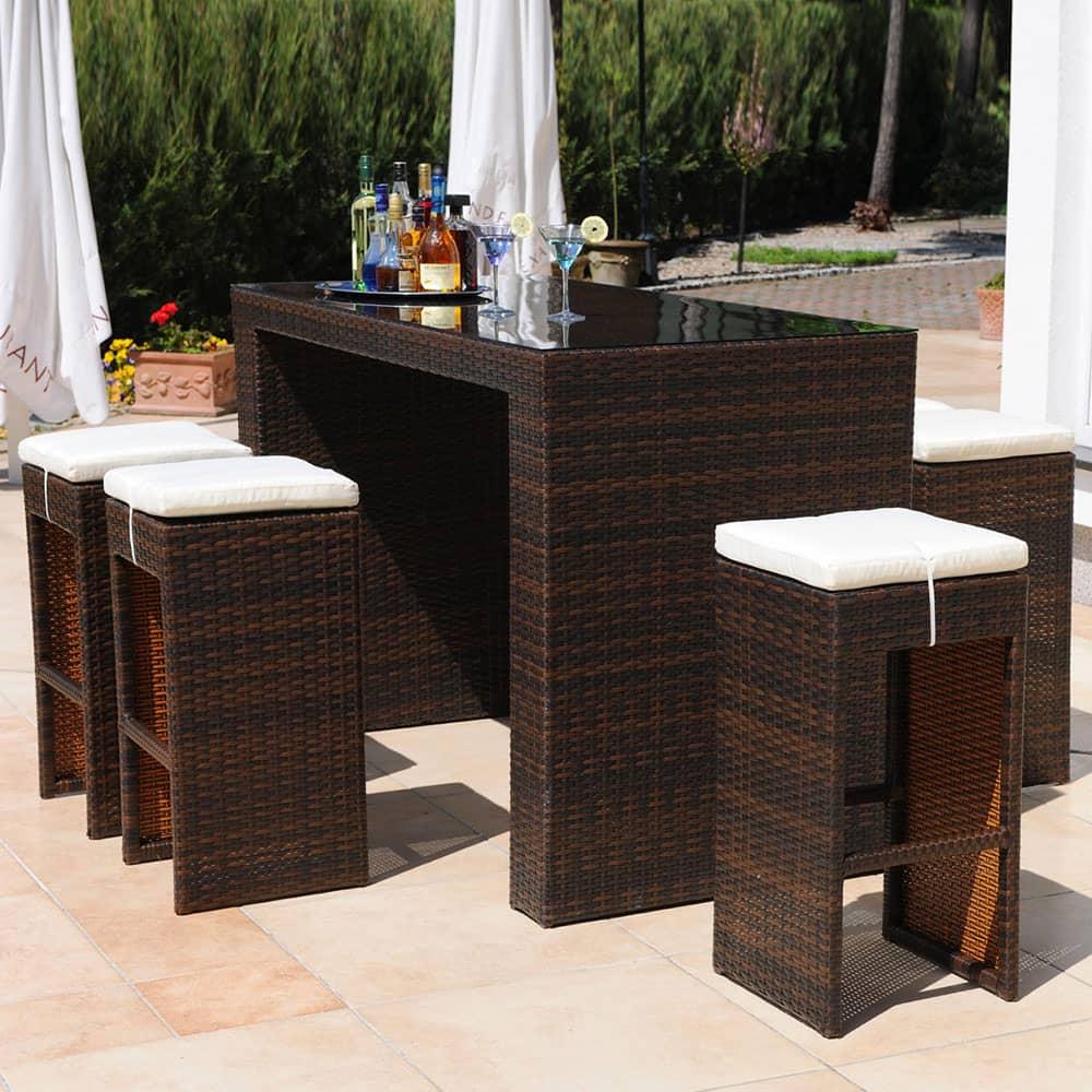 Súprava záhradného nábytku z technorattanu Bar Alice Wenge PATIO