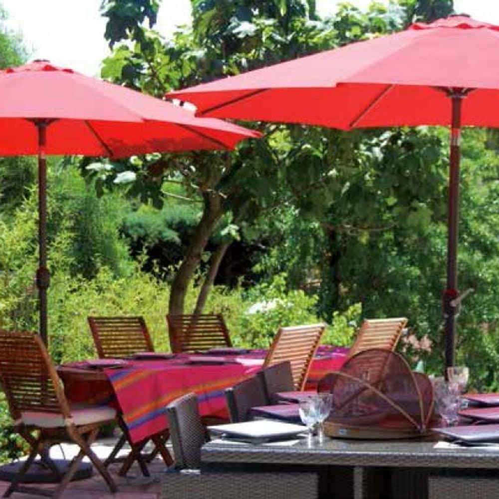 Parasol de jardin Poly rouge 3 m PATIO