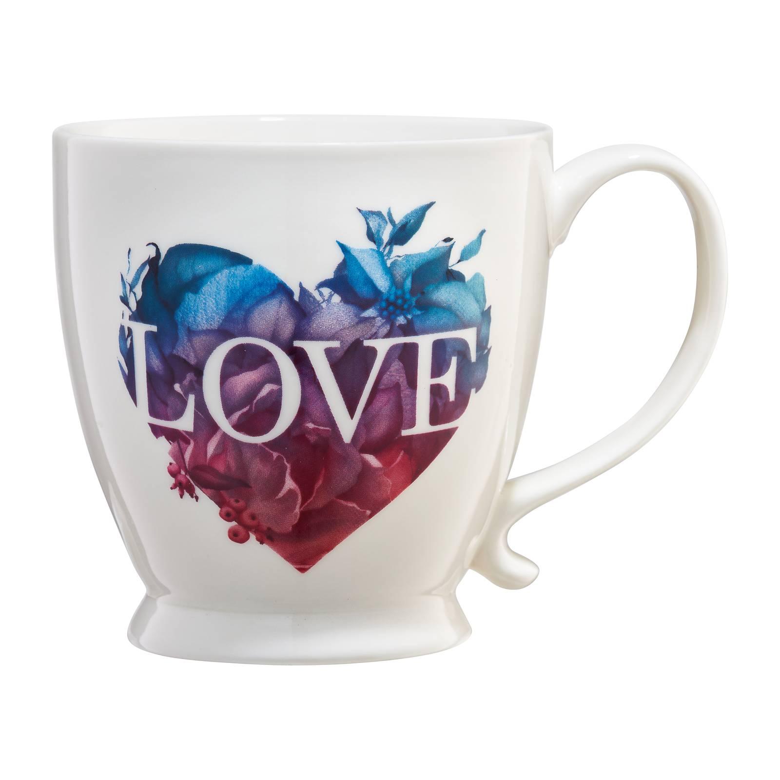 Kubek porcelanowy Love Letters wielokolorowe serce 400 ml AMBITION