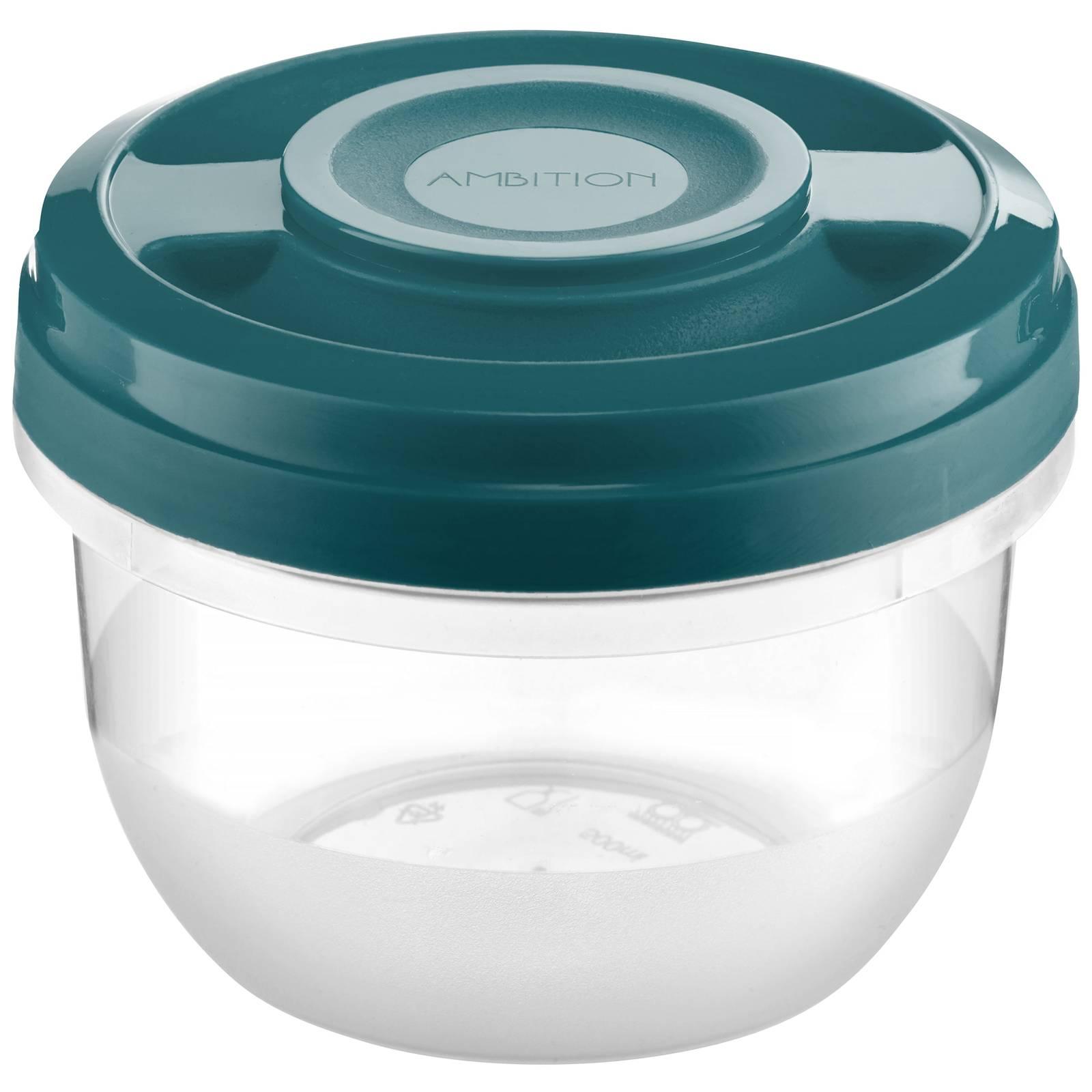 Pojemnik do kuchenki mikrofalowej Smart  0,5 L turkusowy AMBITION