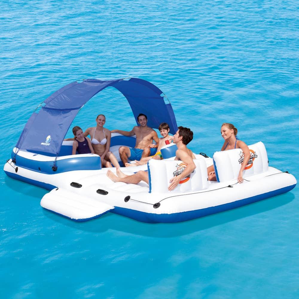 Aufblasbares Floß mit Mini Pool Tropical Breeze 389 x 274 cm BESTWAY