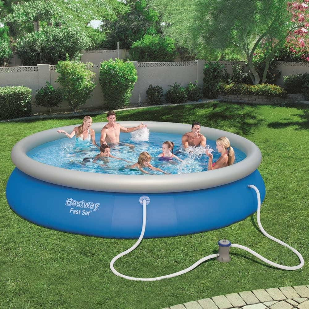 Nadzemný bazén s golierom Fast Set 457 x 84 cm BESTWAY