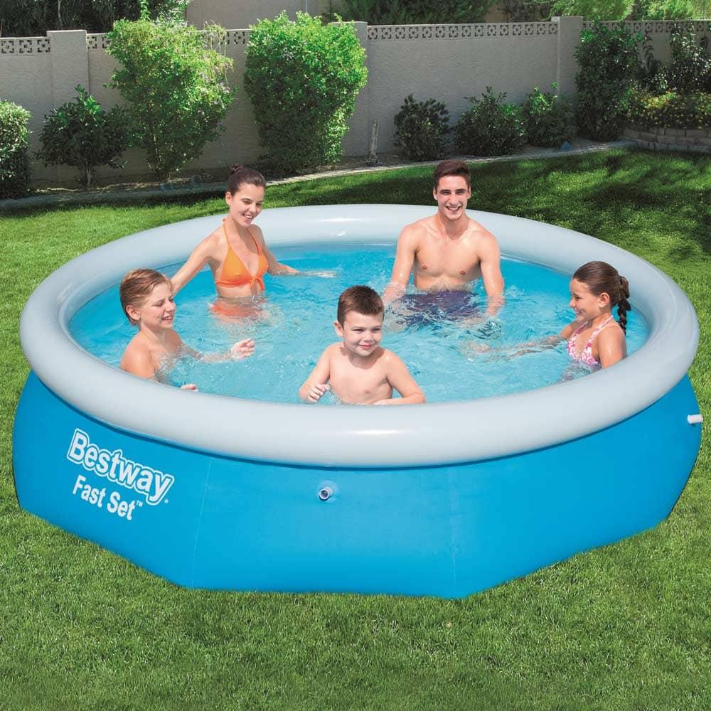 Nadzemný bazén s golierom Fast Set 305 x 76 cm BESTWAY