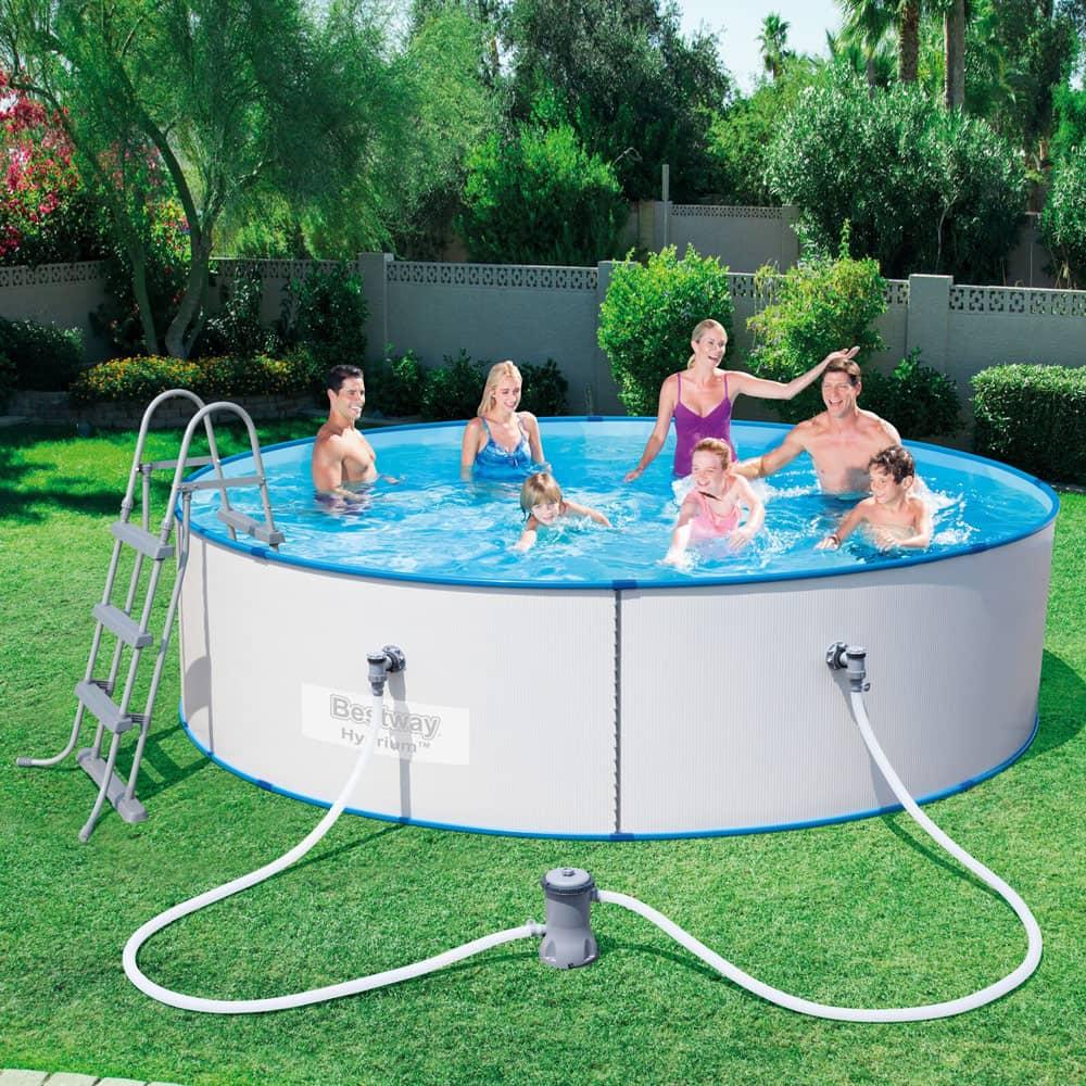 Runder Pool mit einem Metallrahmen Hydrium Splasher 360 x 90 cm 8648 l BESTWAY
