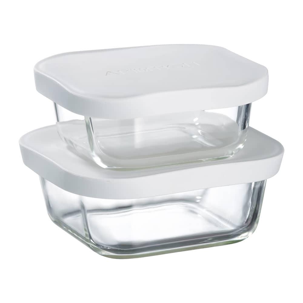 2 boîtes de conservation résistantes à la chaleur Frisk white 45 cl / 75 cl AMBITION