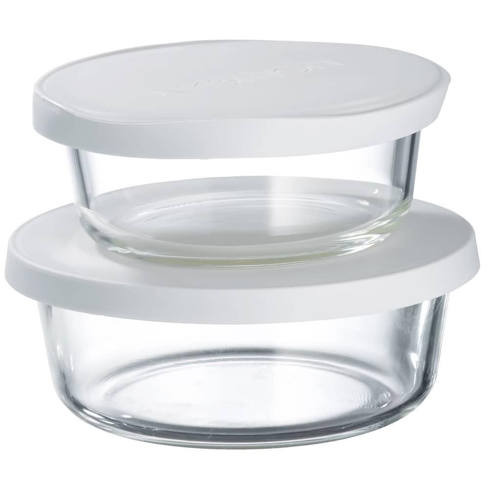 2 boîtes de conservation résistantes à la chaleur Frisk white 60 cl / 90 cl AMBITION