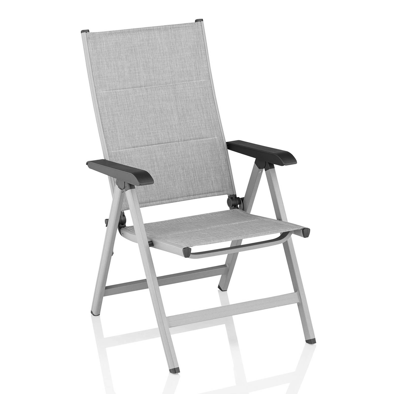 Krzesło wielopozycyjne Basic Plus Padded srebrno-jasnoszary KETTLER
