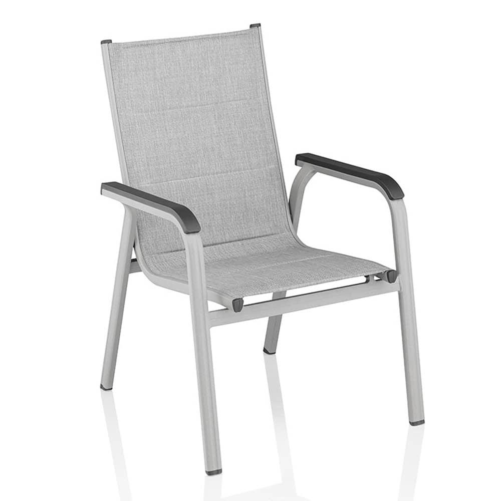 Krzesło Basic Plus Padded srebrno-jasnoszary KETTLER