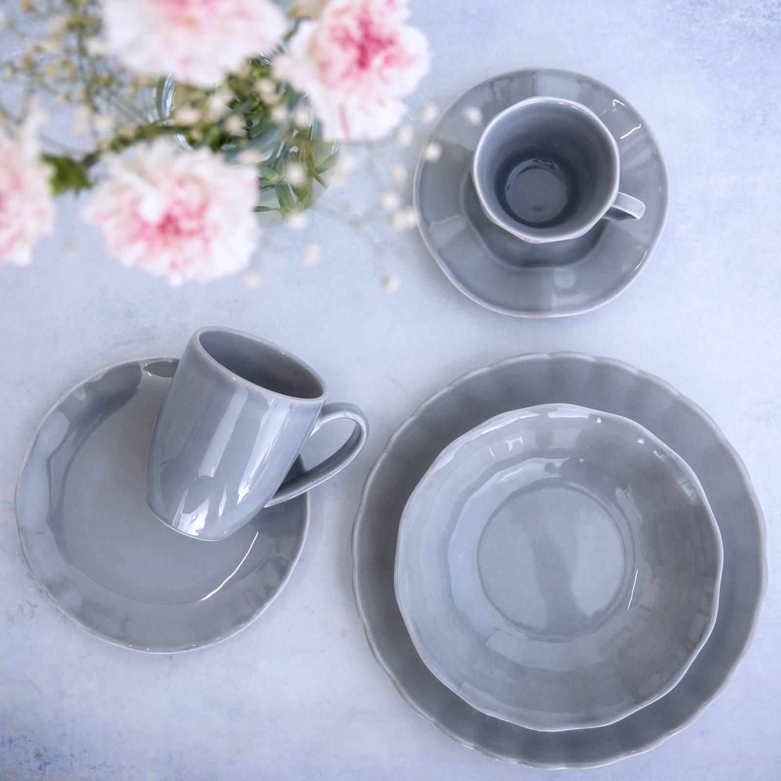 Serwis obiadowo-kawowy Diana Rustic Grey 36-elementowy AMBITION