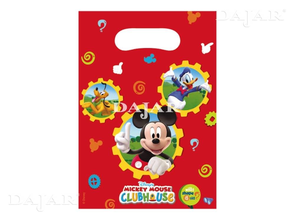 Sada 6 dárkových tašek fólie Mickey Mouse Club DISNEY